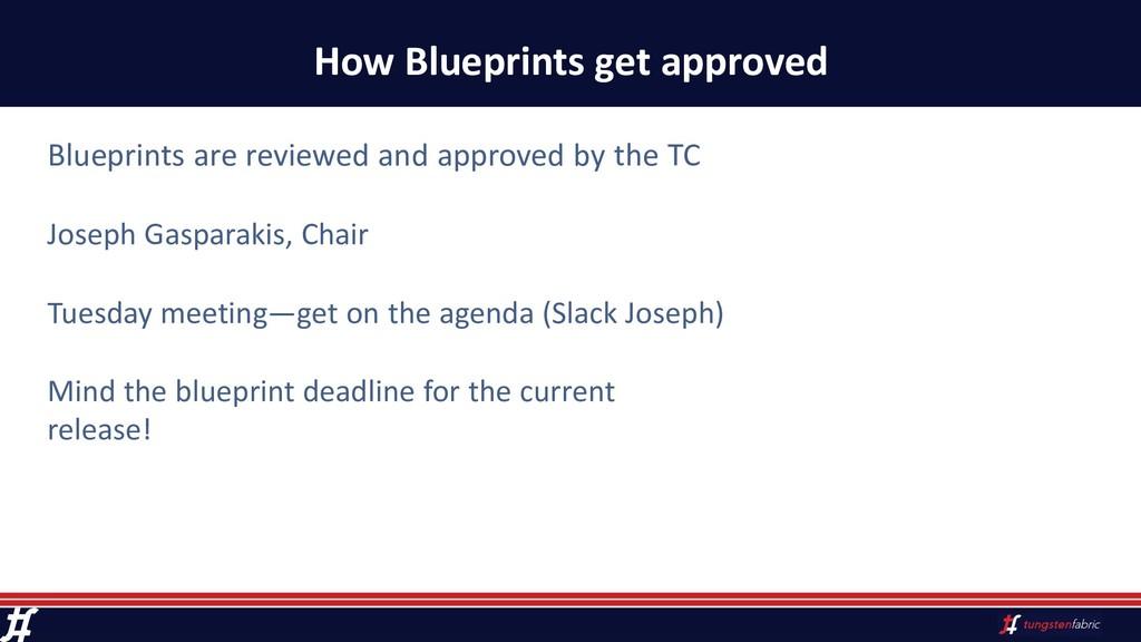 How Blueprints get approved Blueprints are revi...