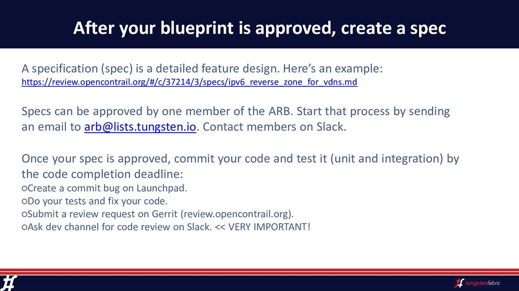 After your blueprint is approved, create a spec...