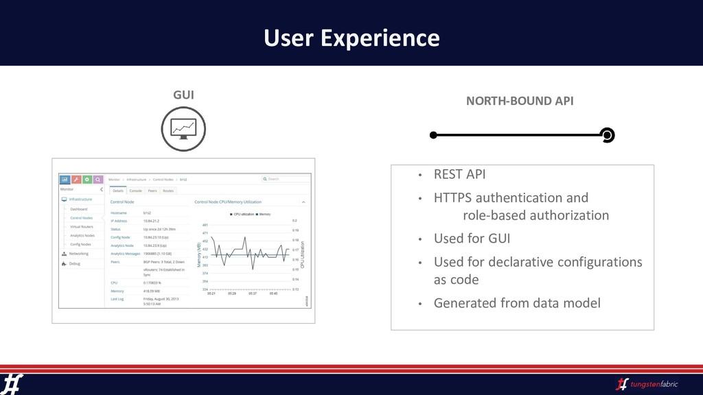 User Experience • REST API • HTTPS authenticati...