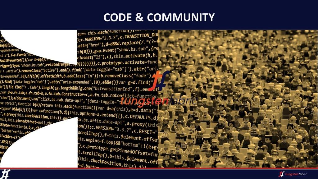 CODE & COMMUNITY
