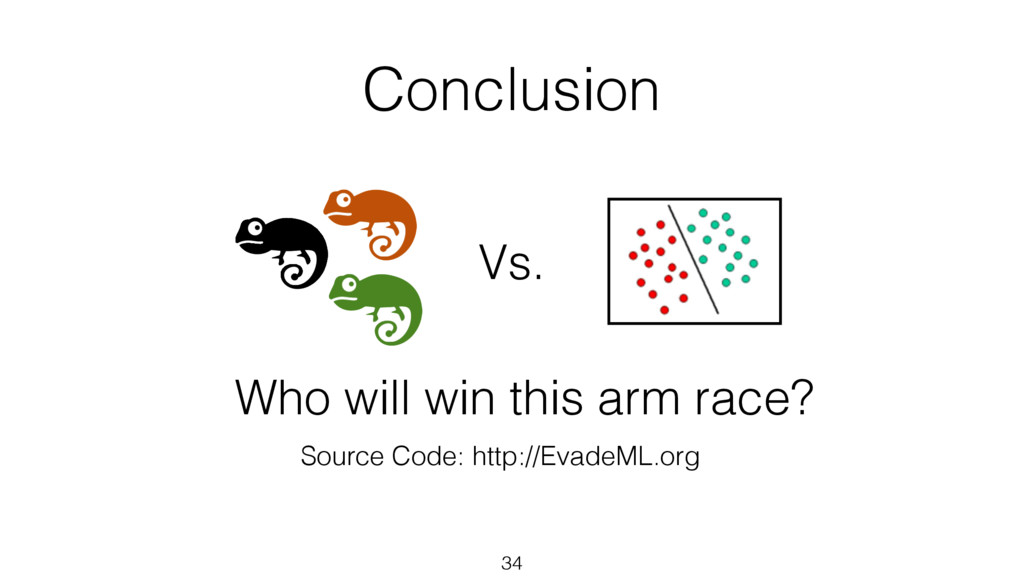 Conclusion 34 Source Code: http://EvadeML.org V...