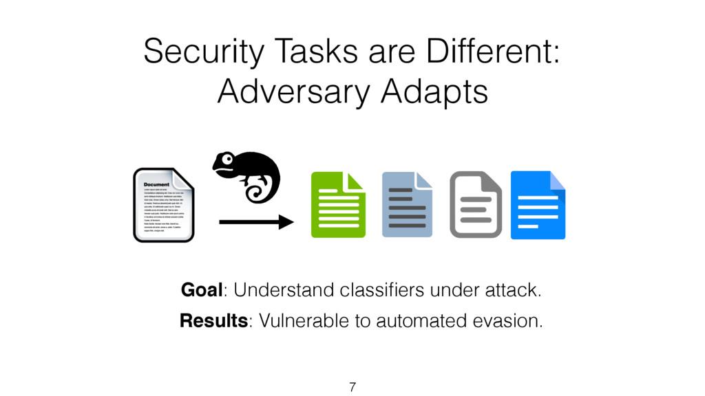 Goal: Understand classifiers under attack. Resul...