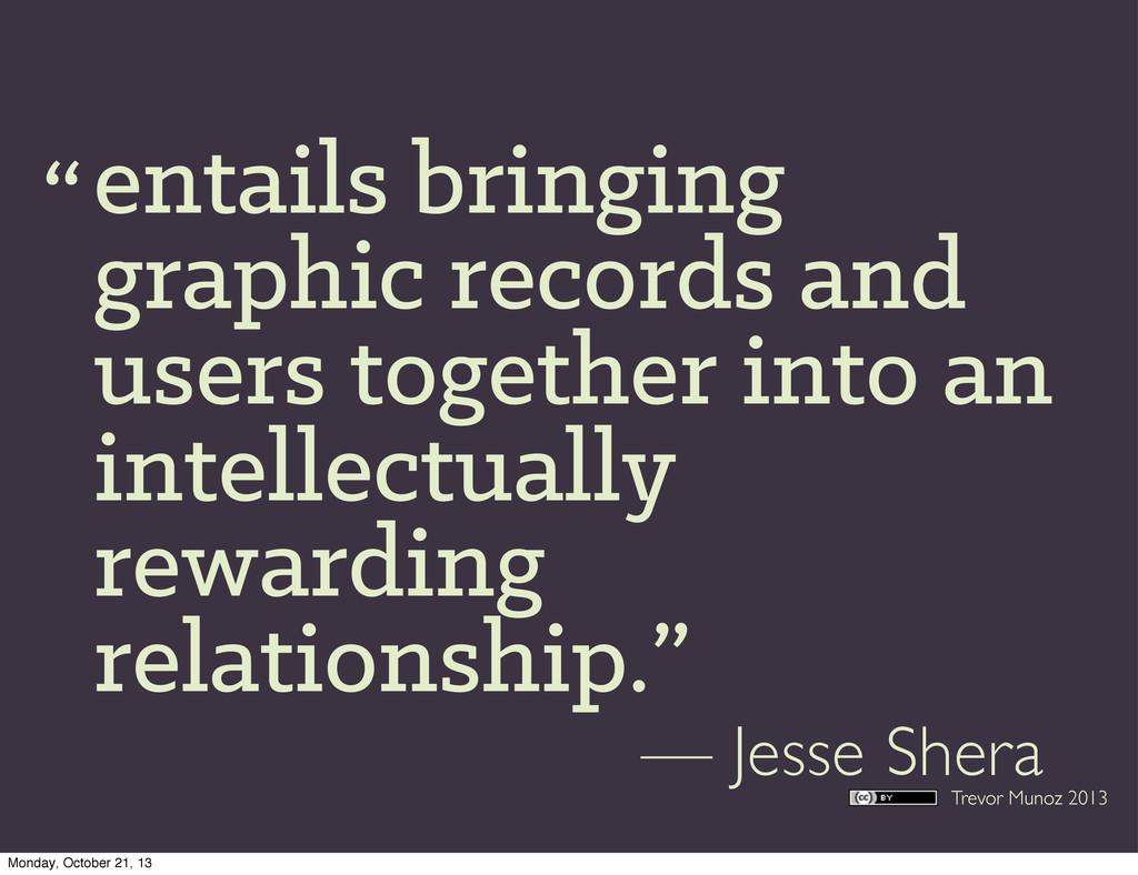 Trevor Munoz 2013 entails bringing graphic reco...