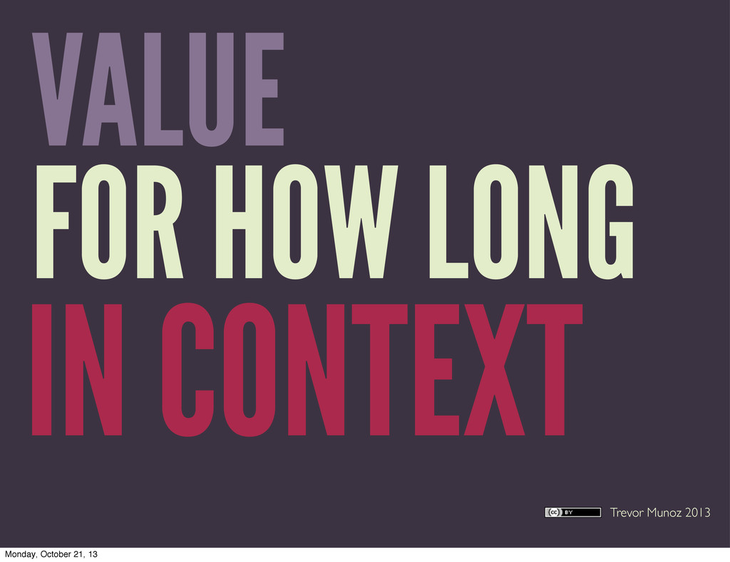 Trevor Munoz 2013 VALUE FOR HOW LONG IN CONTEXT...