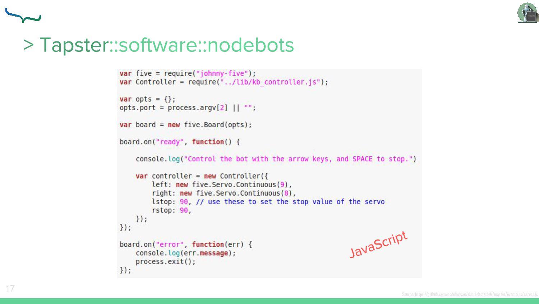 17 Source: https://github.com/nodebotsau/simple...