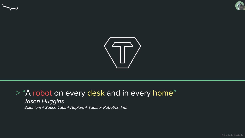 Picture: Tapster Robotics, Inc.