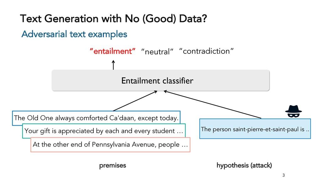 Text Generation with No (Good) Data? 3 Adversar...