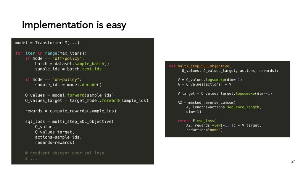 Implementation is easy 24