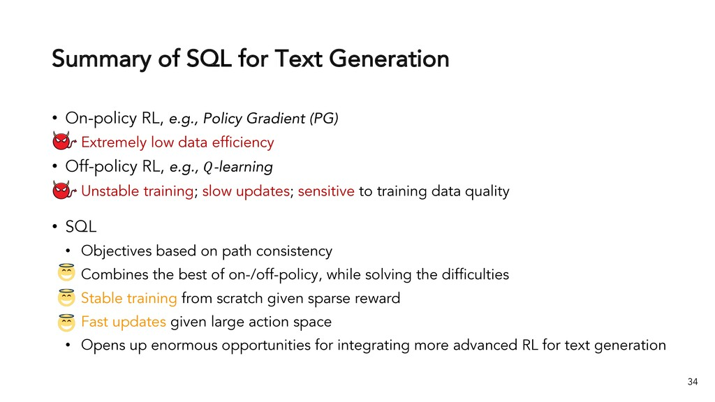 Summary of SQL for Text Generation 34 • On-poli...