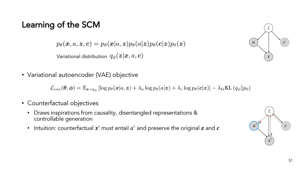 Learning of the SCM 51 • Variational autoencode...