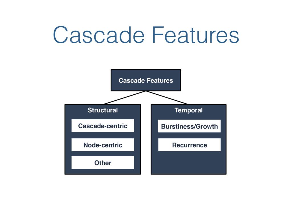 Cascade Features Cascade Features Structural Te...