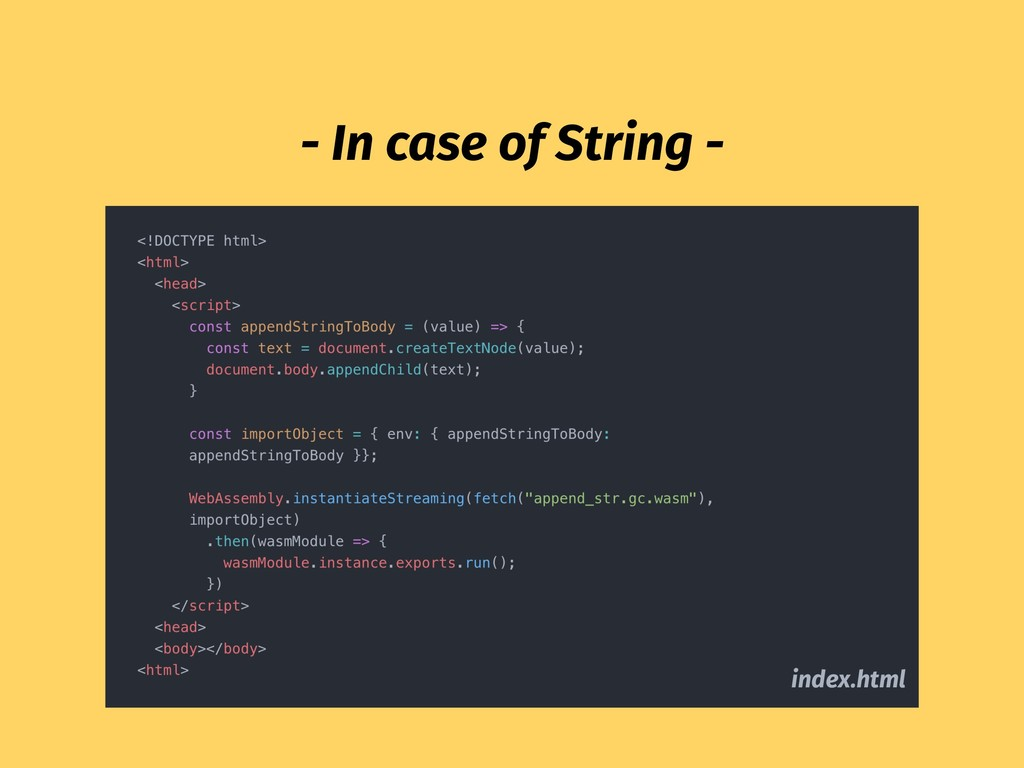 index.html - In case of String -