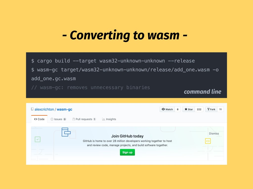 - Converting to wasm - $ cargo build --target w...