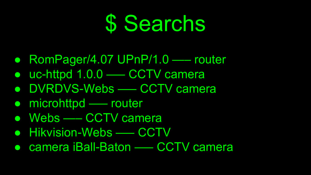 $ Searchs ● RomPager/4.07 UPnP/1.0 —– router ● ...