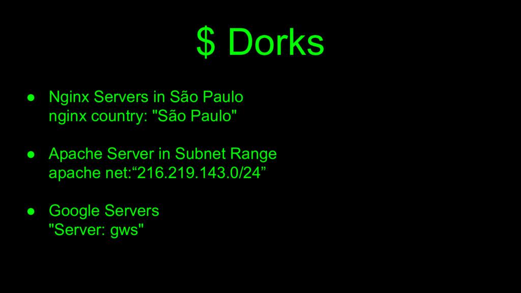 $ Dorks ● Nginx Servers in São Paulo nginx coun...