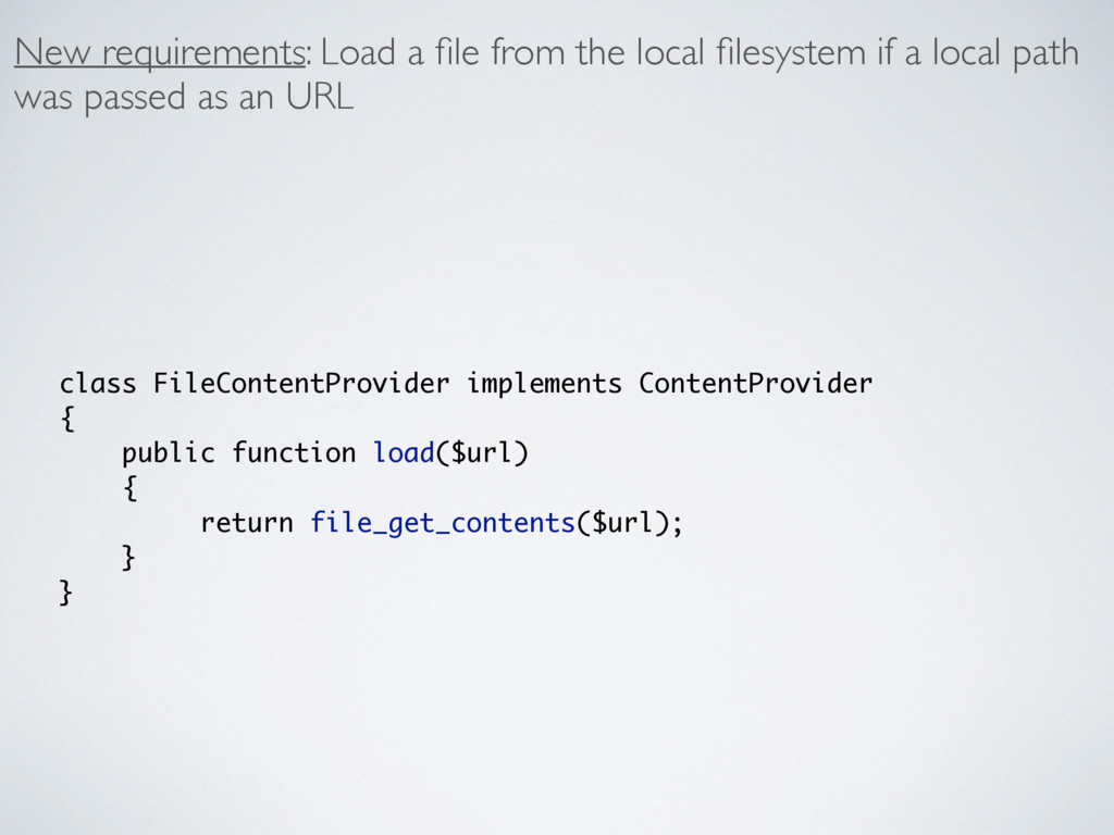 New requirements: Load a file from the local file...