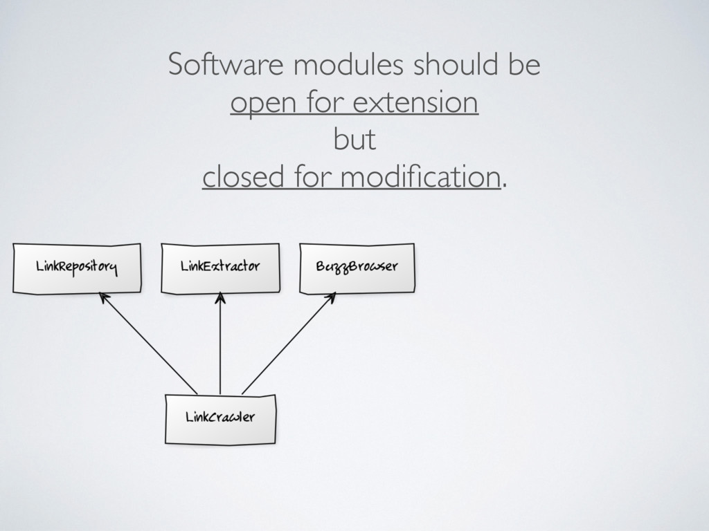 Software modules should be open for extension b...