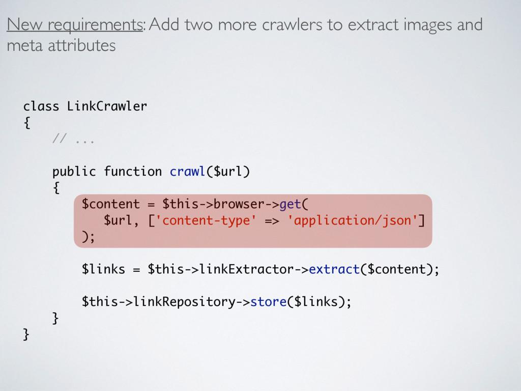 class LinkCrawler { // ... public function craw...