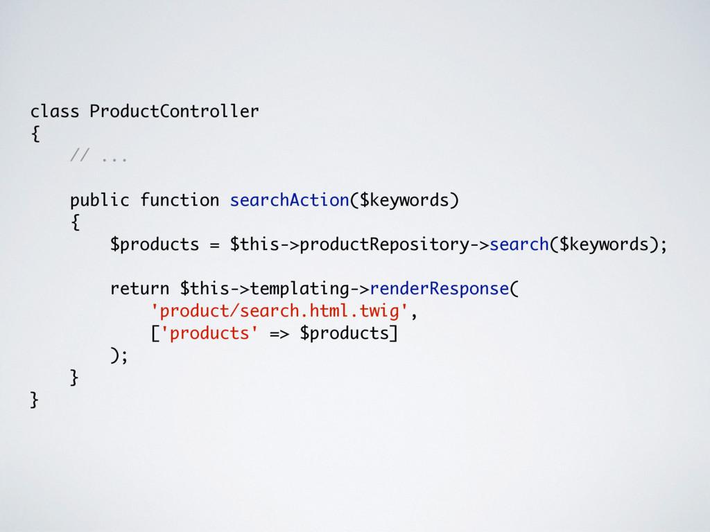 class ProductController { // ... public functio...