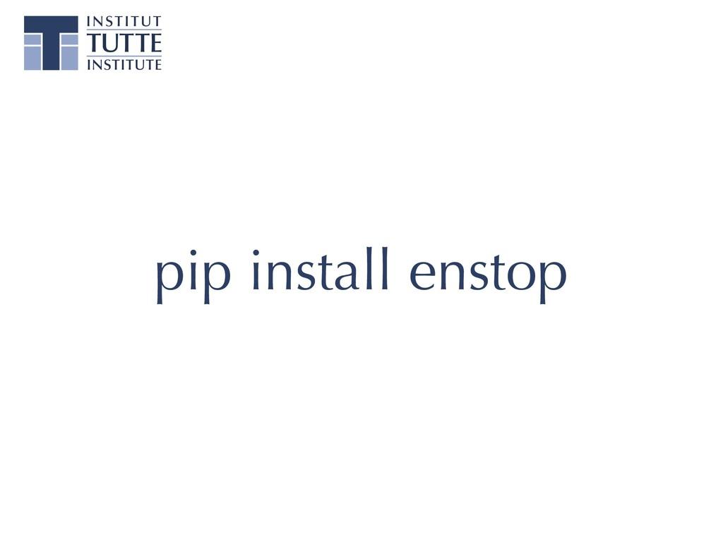 pip install enstop
