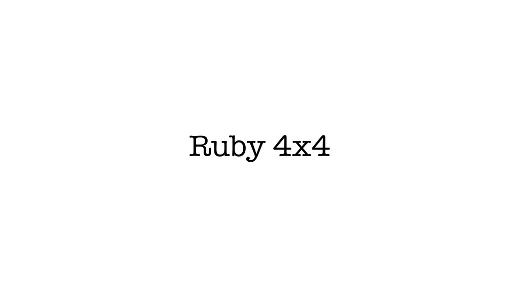 Ruby 4x4
