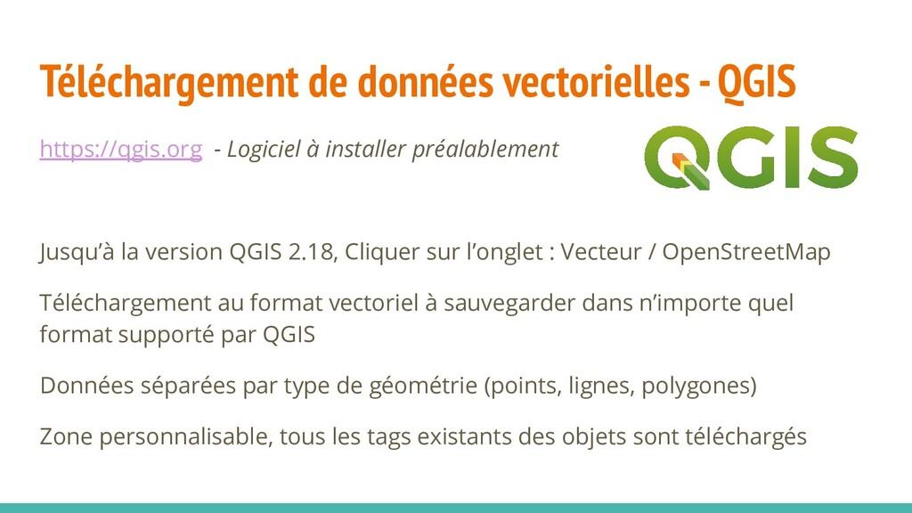 Téléchargement de données vectorielles - QGIS h...