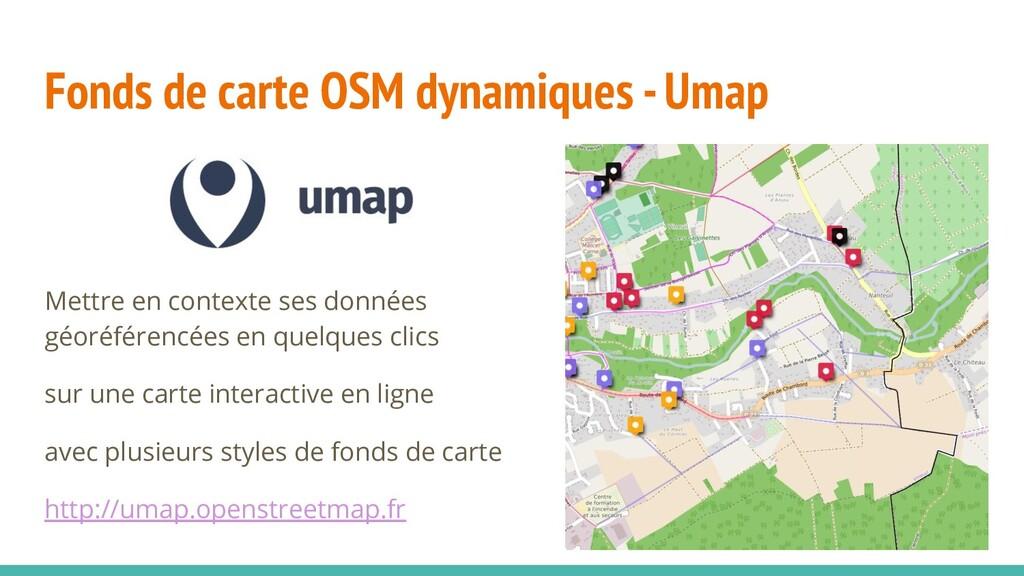 Fonds de carte OSM dynamiques - Umap Mettre en ...