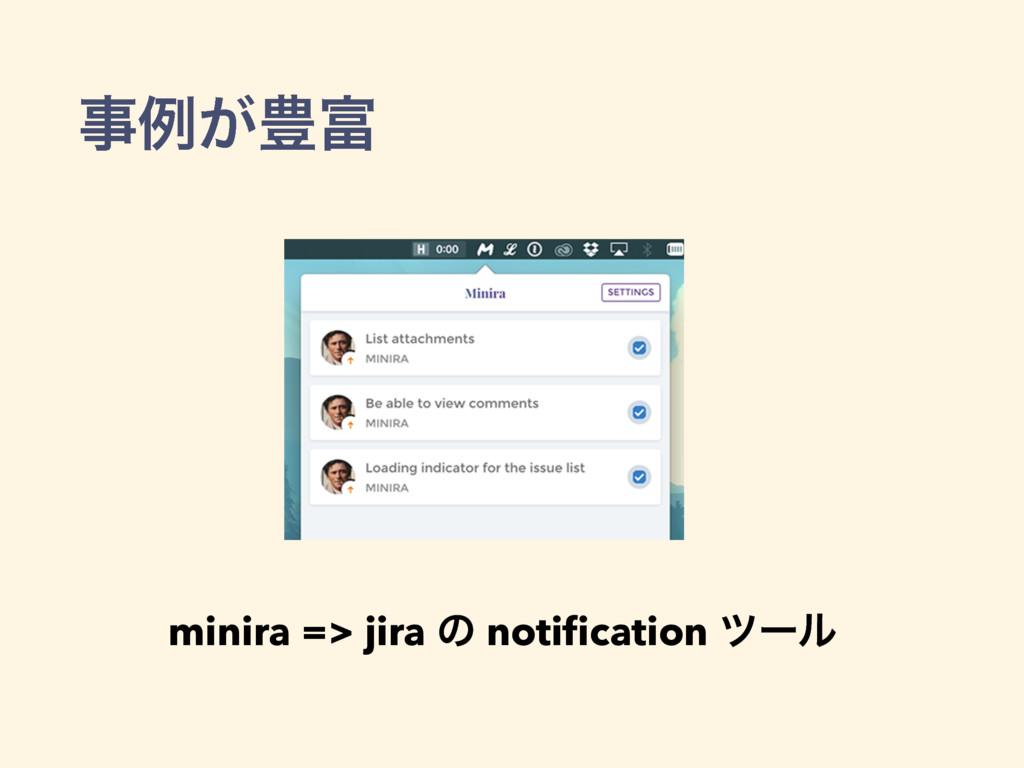 ྫ͕๛ minira => jira ͷ notification πʔϧ