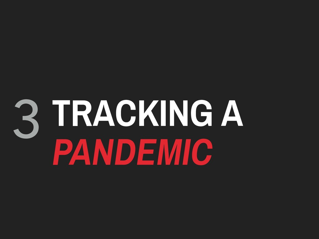 3 TRACKING A PANDEMIC