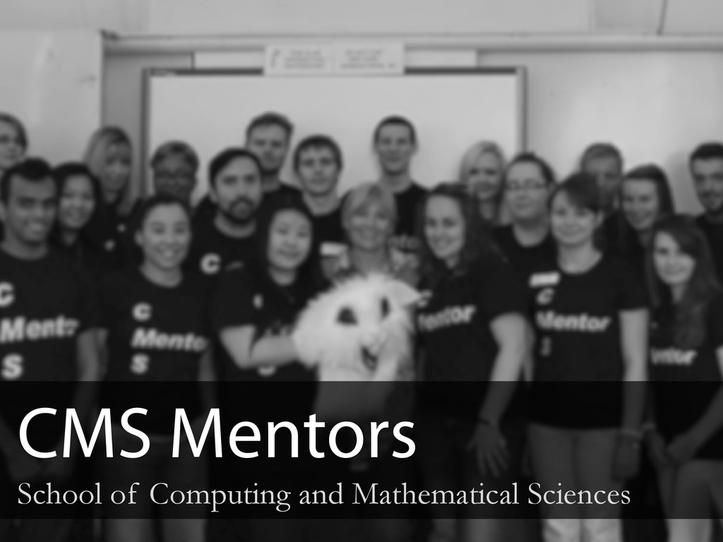 CMS Mentors School of Computing and Mathematica...