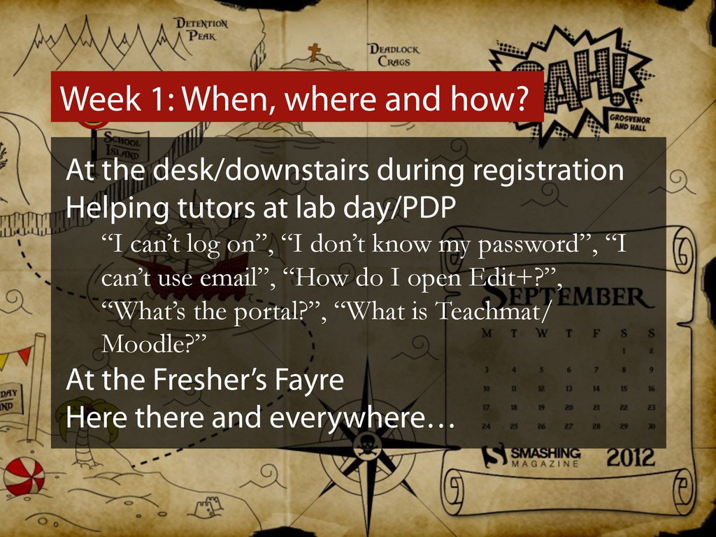 Week 1: When, where and how? At the desk/downst...