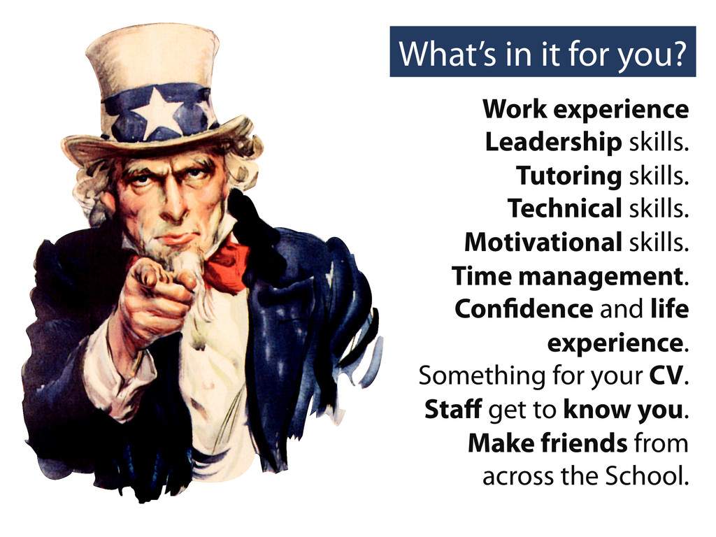 What's in it for you? Work experience Leadershi...