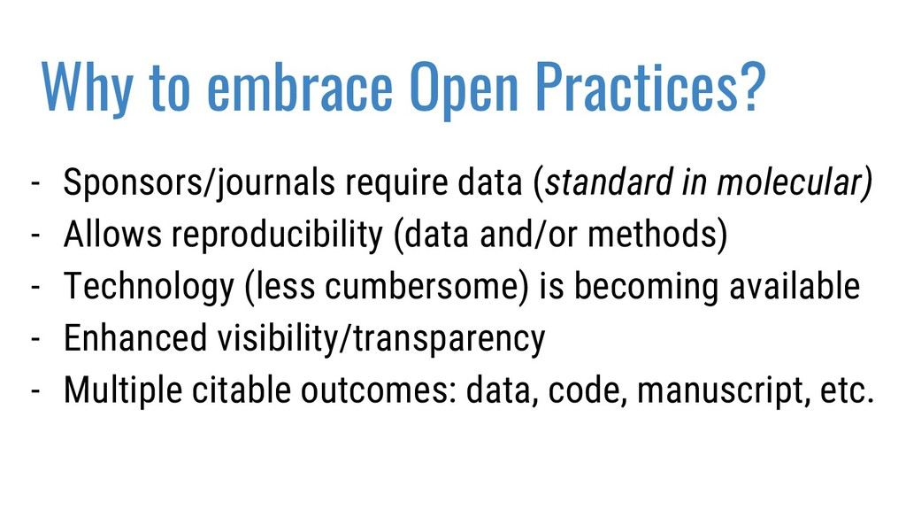 Why to embrace Open Practices? - Sponsors/journ...