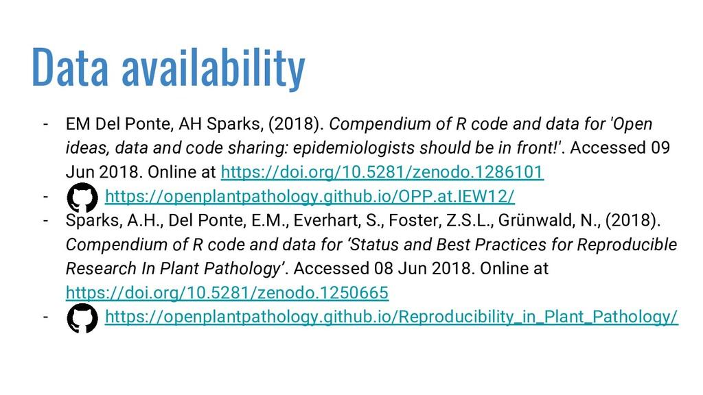 Data availability - EM Del Ponte, AH Sparks, (2...