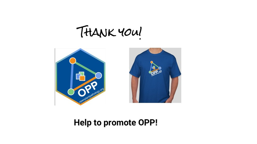 Thank you! Help to promote OPP!