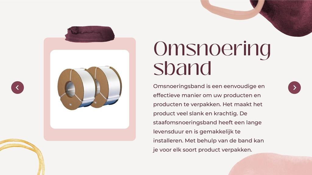Omsnoering sband Omsnoeringsband is een eenvoud...