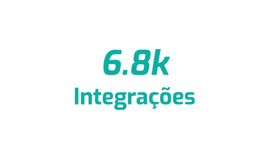6.8k Integrações