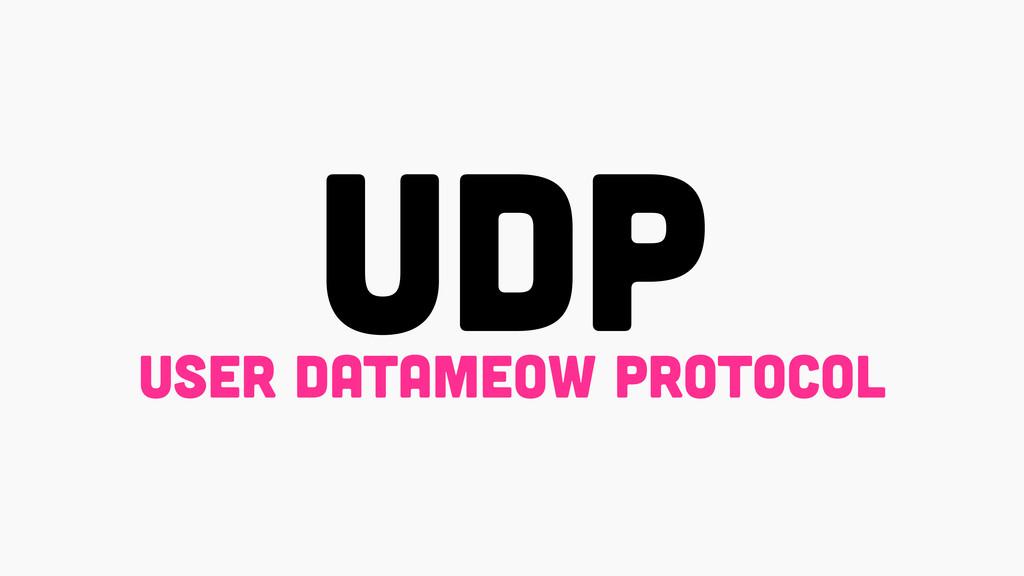 UDP USER DATAMEOW PROTOCOL