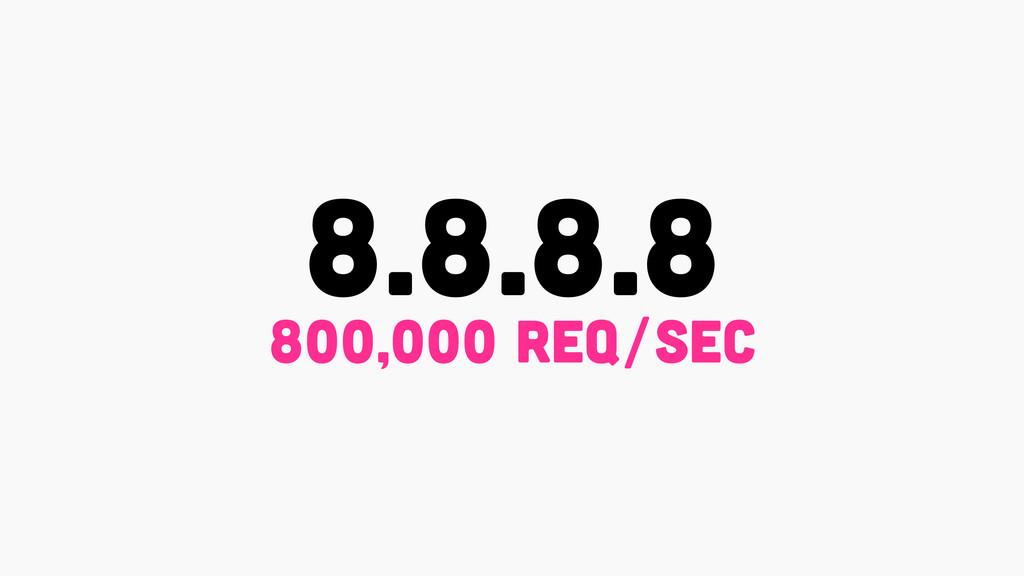 8.8.8.8 800,000 rEq/sec