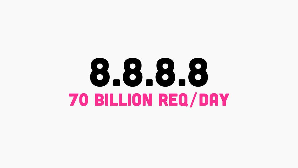 8.8.8.8 70 billion rEq/day