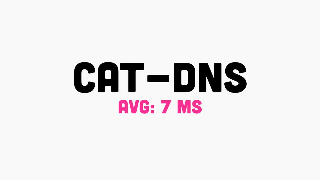 CAT-DNS avg: 7 ms