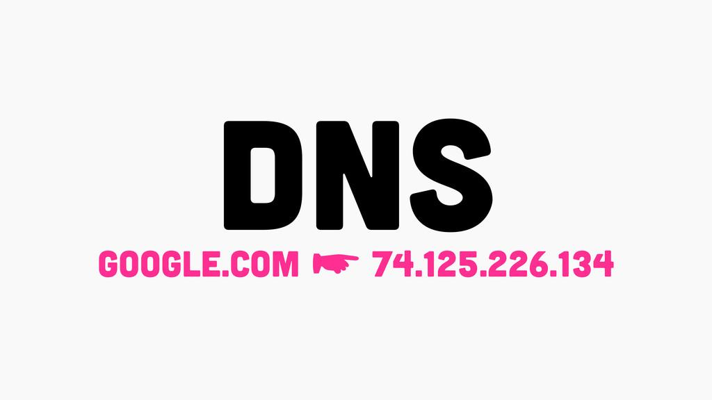 DNS GOOGLE.COM ☛ 74.125.226.134