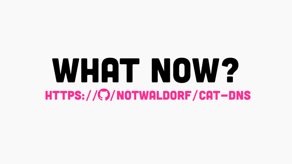 what now? https:// /notwaldorf/cat-dns