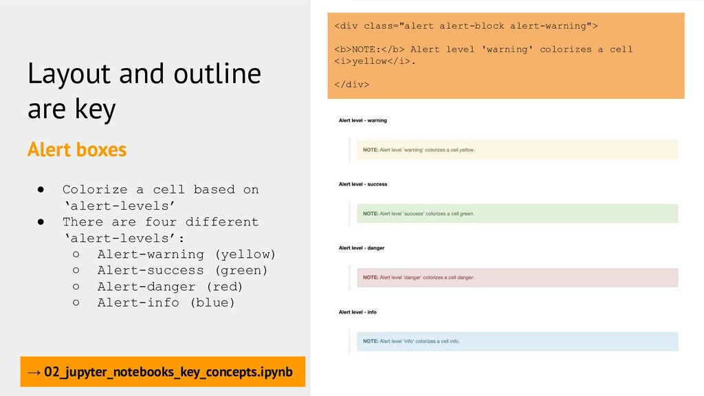 Layout and outline are key Alert boxes → 02_jup...