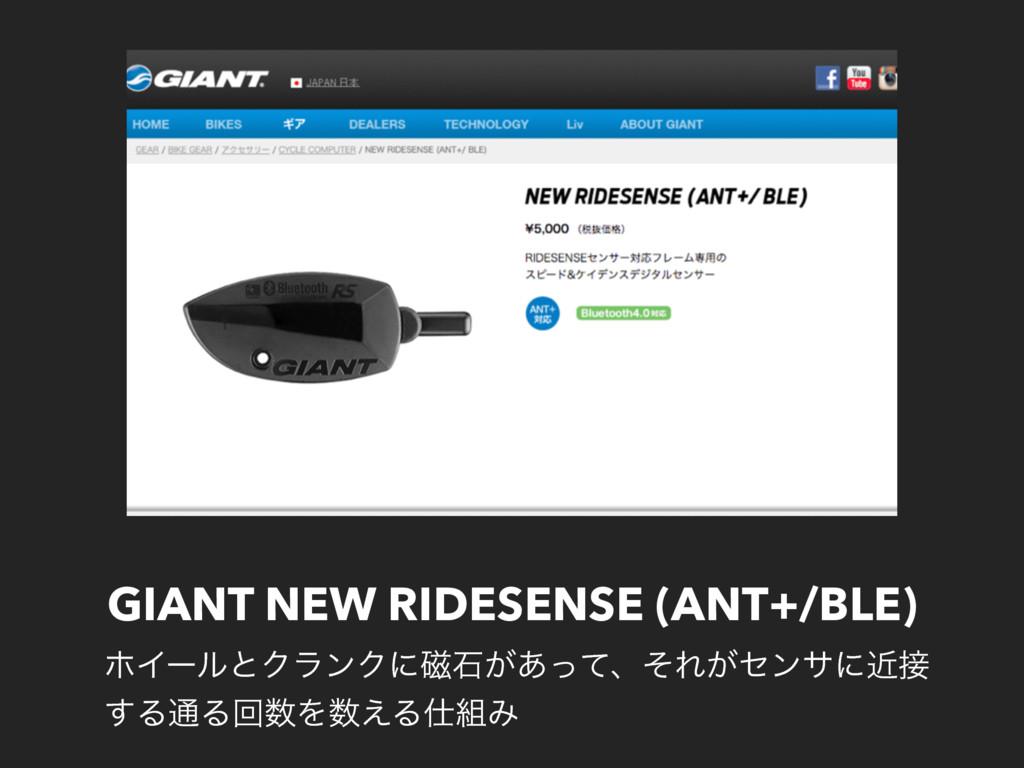 GIANT NEW RIDESENSE (ANT+/BLE) ϗΠʔϧͱΫϥϯΫʹ࣓ੴ͕͋ͬͯ...