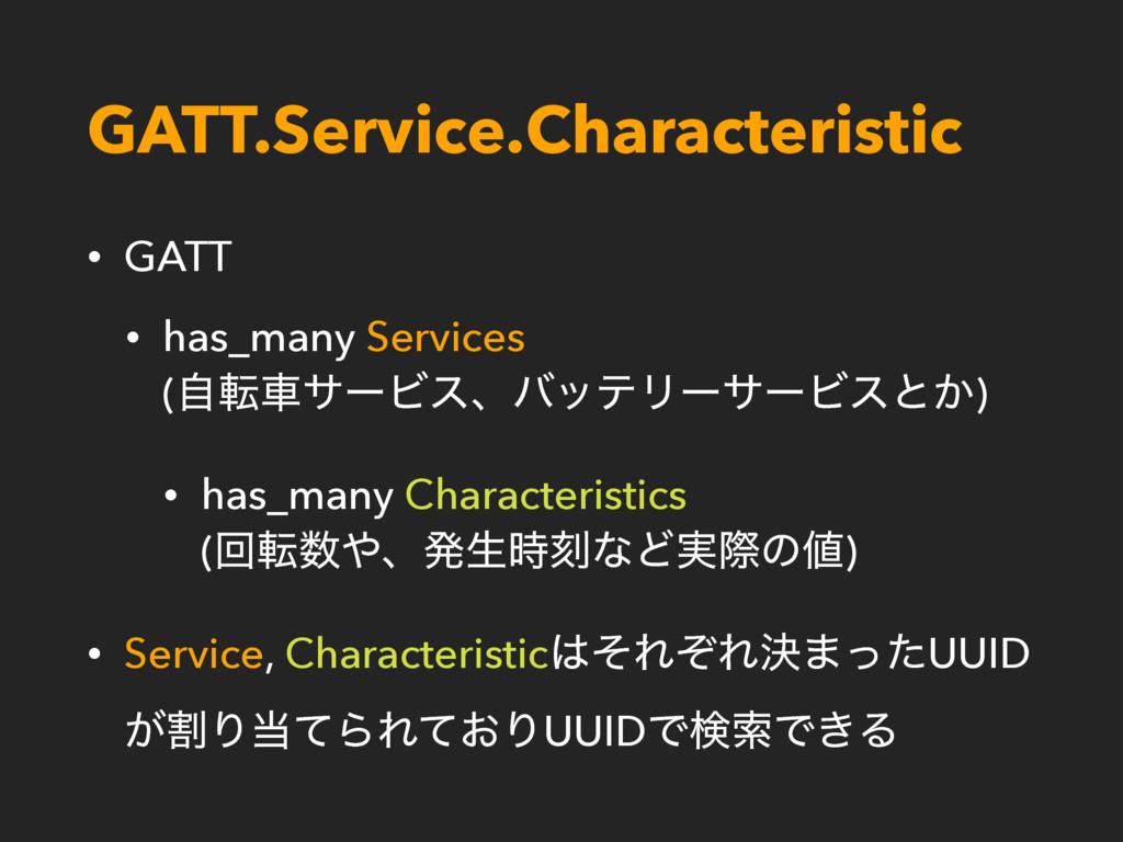 GATT.Service.Characteristic • GATT • has_many S...
