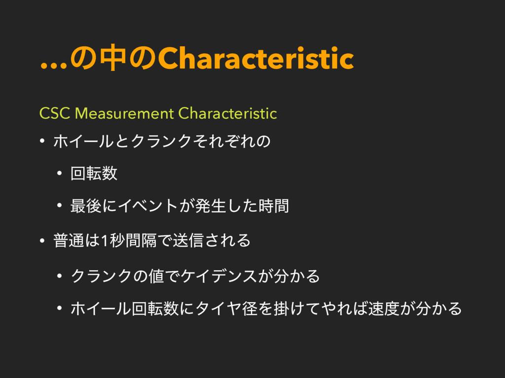 …ͷதͷCharacteristic CSC Measurement Characterist...