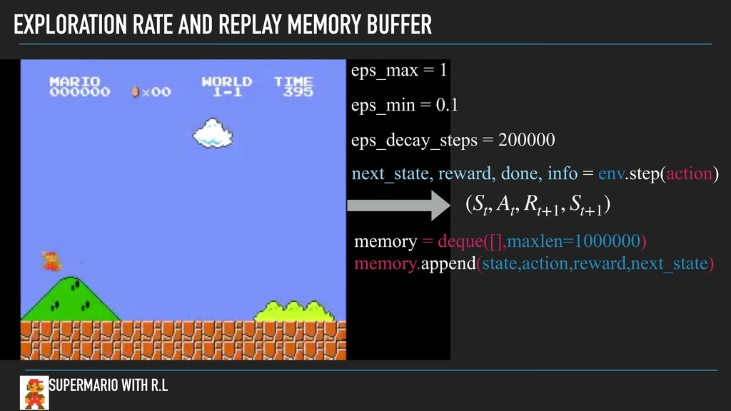 EXPLORATION RATE AND REPLAY MEMORY BUFFER SUPER...