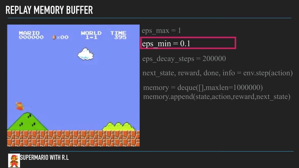 REPLAY MEMORY BUFFER SUPERMARIO WITH R.L memory...