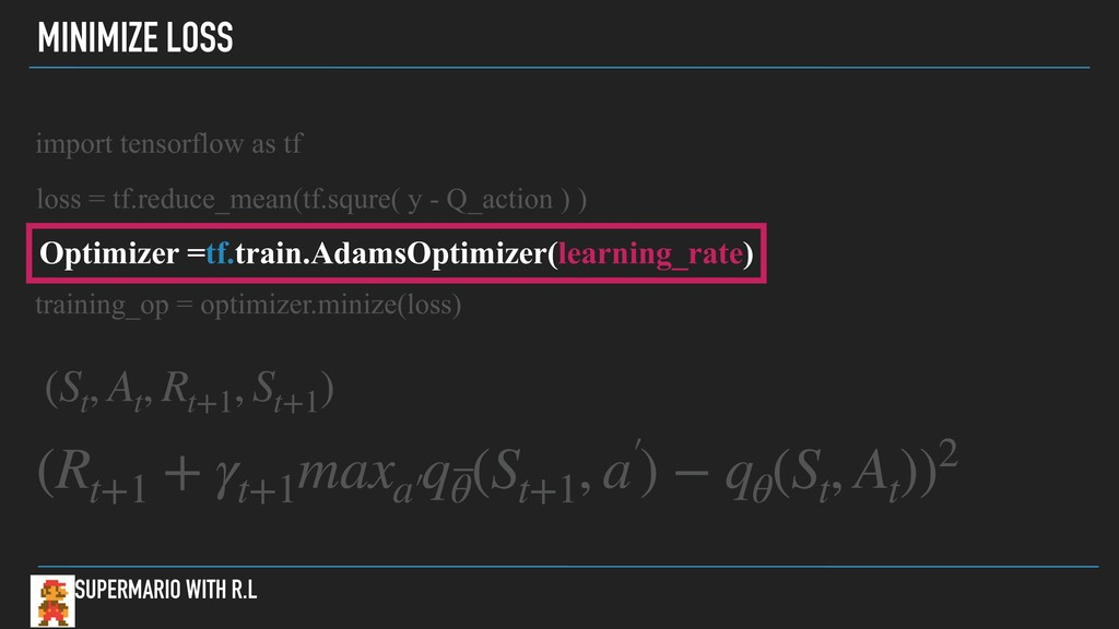 MINIMIZE LOSS SUPERMARIO WITH R.L import tensor...